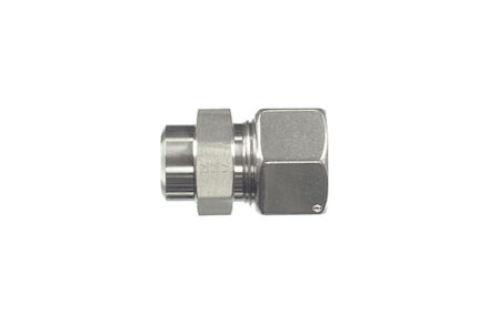 Stainless Cutting Ring Tube Coupling 24° - DIN 2353 - Straight Welding Bosses - Heavy type photo du produit