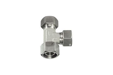 Snijringverbinding 24° RVS - DIN 2353 - instelbare L-koppeling - Standaard - DKO - serie Zwaar product photo