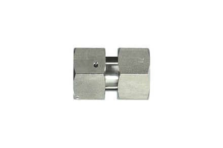 Stainless Cutting Ring Tube Coupling 24° - DIN 3861 - Swivel Unions - With Taper and O-ring - Viton - Heavy type photo du produit