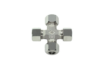 Stainless steel Cross Tube coupling 24° DIN heavy type photo du produit