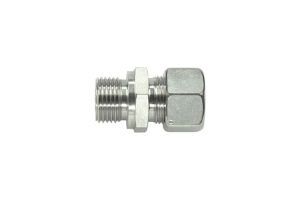 Stainless Cutting Ring Tube Coupling 24° - Metric Male Stud Couplings - Parallel - B - Heavy type photo du produit