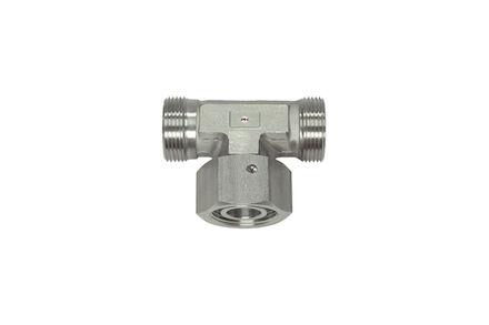 Snijringverbinding 24° RVS - instelbare T-koppeling - OMD - DKO - serie Zwaar product photo