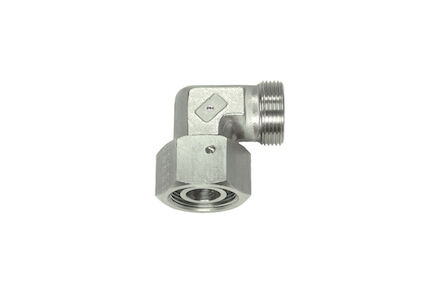 Stainless Cutting Ring Tube Coupling 24° - 90° Adjustable Stud Elbows - OMD - With Taper and O-ring - Viton - Heavy type photo du produit