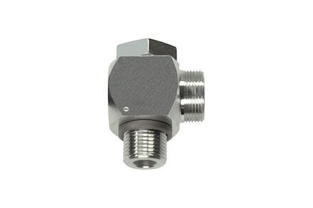 Snijringverbinding 24° RVS - 90° kniekoppeling BSP DIN - serie Zwaar product photo