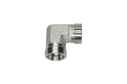 Snijringverbinding 24° RVS - knie-verbindingskoppeling - OMD - serie Zwaar product photo