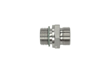 Stainless Cutting Ring Tube Coupling 24° - Male Stud Coupling Bodies - BSP - Parallel - With Seal - Heavy type photo du produit