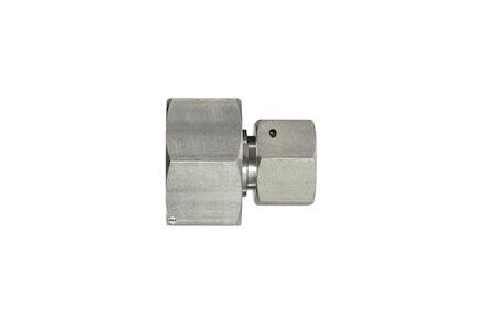 Snijringverbinding 24° RVS - DIN 3861 - verbindingskoppeling recht reduceer - beide zijden met wartel - DKO - serie Licht product photo