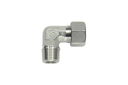 Stainless steel 90° Elbow Tube coupling 24° NPT DIN light type photo du produit