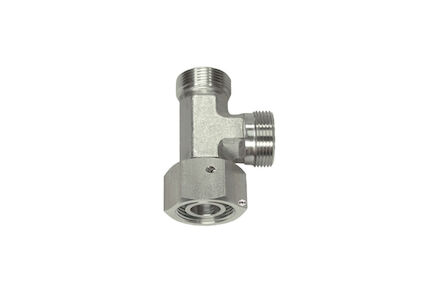 Stainless Cutting Ring Tube Coupling 24° - Adjustable Stud Barrel Elbows - OMD - With Taper and O-Ring Viton - Light type photo du produit