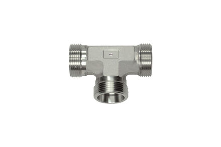 Stainless Cutting Ring Tube Coupling 24° - Equal Tee Bodies - OMD - Light type photo du produit