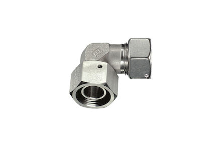 Stainless Tube Couplings - ADJUSTABLE STUD ELBOWS With Taper and Viton O-ring - Silver coated nuts product photo