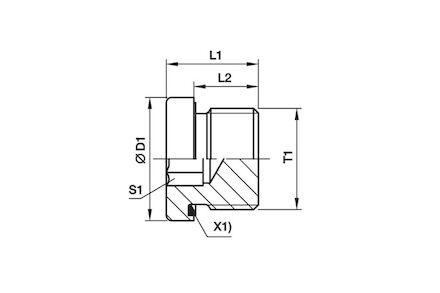 Adaptor Hydrauliczny - Korek MĘSKI BSP z gniazdem imbusowym i z Uszczelką Elastomerową product photo