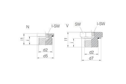 Hydraulický adaptér - Closure Plug male BSP with Exagon Socket Head with Elastomer Seal product photo