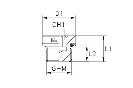Adapter Hydrauliczny - Korek MĘSKI BSP z gniazdem imbusowym i z Uszczelką Elastomerową product photo