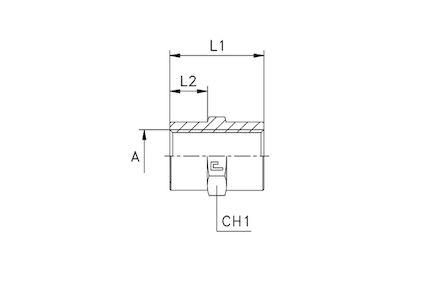 Adapter Hydrauliczny - Prosty ŻEŃSKI METRYCZNy na ŻEŃSKI METRYCZNY product photo