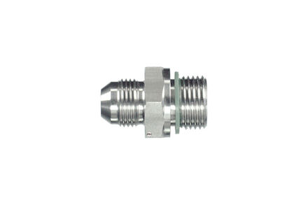 Hydrauliek adapter RVS - Adapter recht JIC male/BSP male - met peflex afdichting product photo