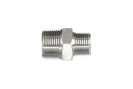 Hydrauliek adapter RVS - Adapter recht NPT male met 60° conus product photo