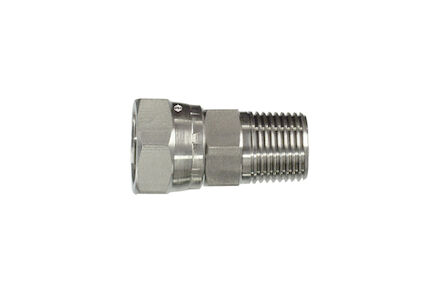Stainless Adaptors Straight Male NPTF to Female BSP 60° cone product photo