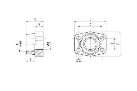 Přírubové připojení SAE 3000 PSI - BSP samice product photo