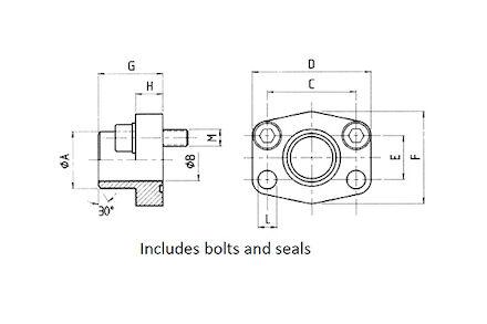 SAE aanlasflens - 6000 psi - pijpaansluiting met bouten en O-ring product photo