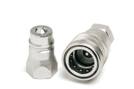 Hydraulic Quick Coupling - MQS-AB - ISO A Connects Under Pressure - Female part - Metric Male product photo