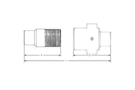 Szybkozłącze Hydrauliczne - SKRĘCANE Heavy Duty 5TV - grzybkowe - NPTF MĘSKIE product photo