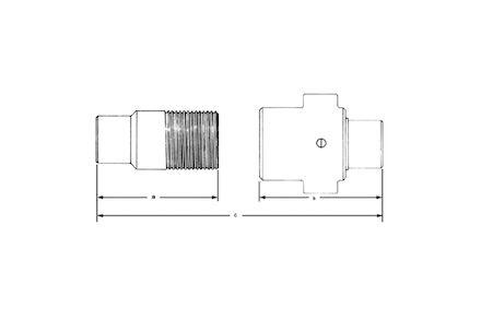 Szybkozłącze Hydrauliczne - SKRĘCANE Heavy Duty 5TV - grzybkowe - BSP MĘSKIE product photo