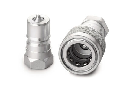 Hydrauliek snelkoppeling RVS - ISO B - female - BSP - VITON afdichting product photo