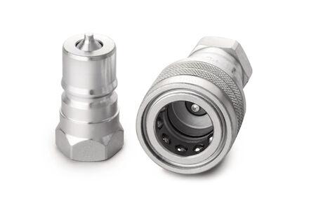 Nerezové hydraulické rychlospojky  - ISO B - FEMALE - BSP - VITON těsnění product photo
