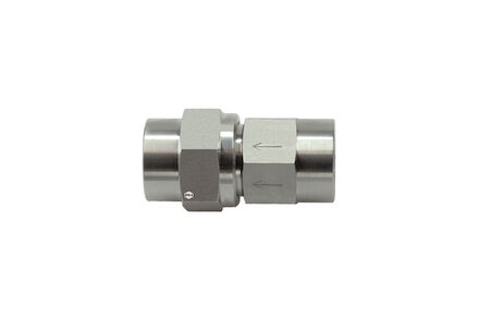 Stainless Steel Check Valve - Imperial BSP Internal Thread on Both Ends - Opening Pressure 1 bar - NBR O-ring product photo
