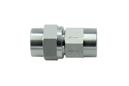 Stainless Steel Check Valve - Imperial BSP Internal Thread on Both Ends - Opening Pressure 3 bar - NBR O-ring product photo