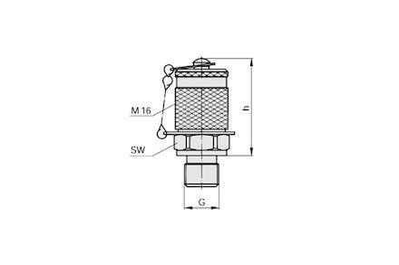 Przyłącze Pomiarowe - M16x2 / Metryczny - Uszczelneinie typu E product photo
