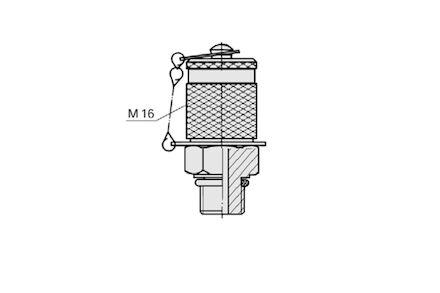 Przyłącze Pomiarowe - M16x2 / Metryczny z oringiem - Uszczelneinie typu F product photo