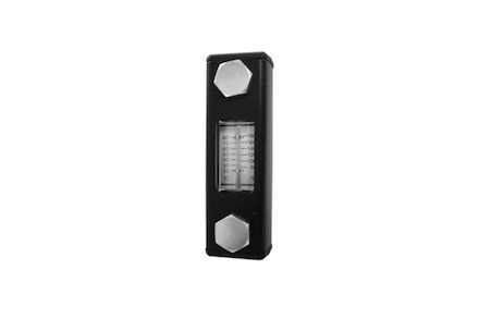 Vloeistof-niveaumeter - 76mm - NBR afdichting - banjobout metrisch M10 - met thermometer product photo
