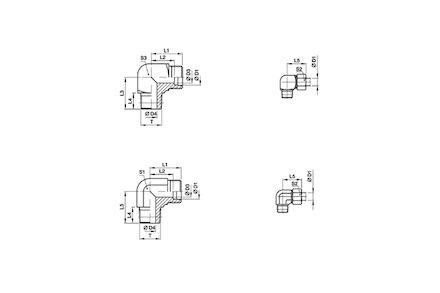 Snijringverbinding 24° - DIN 2353 - inschroefkoppeling - serie Extra Licht