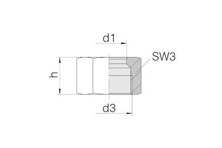 Snijringverbinding 24° - DIN 2353 - BV-10 moer voor kegel - serie Zwaar product photo