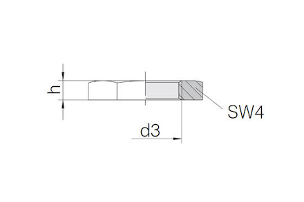 Snijringverbinding 24° - DIN 2353 - zeskantmoer voor schotkoppelingen - serie Zwaar product photo
