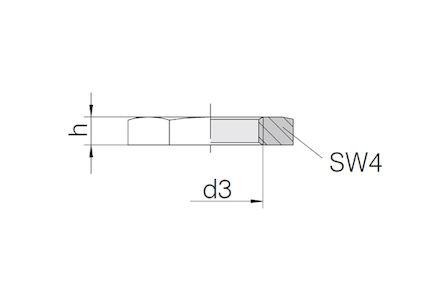 Snijringverbinding 24° - DIN 2353 - zeskantmoer voor schotkoppelingen - serie Licht product photo