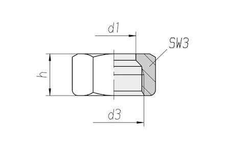 Snijringverbinding 24° - DIN 2353 - moer (snijring) - serie Zwaar product photo
