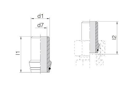 Snijringverbinding 24° - DIN 2353 - lasnippel recht met O-ring - serie Zwaar product photo