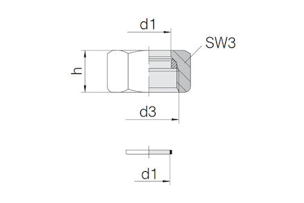 Snijringverbinding 24° - DIN 2353 - Form functiemoer - serie Licht product photo