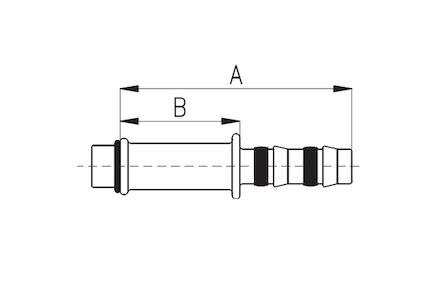 Koeling/airco recht koppeling voor expansieventiel product photo