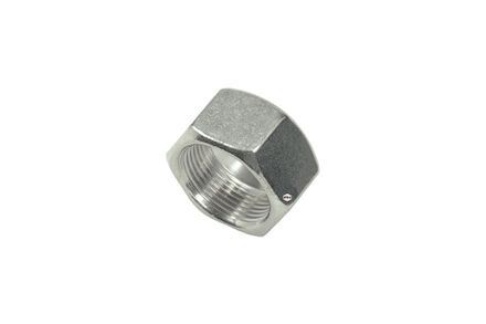 Stainless Nuts for Cutting Ring Connections - Tube size 6 - DIN 3870 + DIN EN ISO 8434-1 - Heavy type product photo