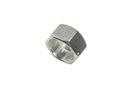 Moeren RVS voor snijringverbinding - pijpmaat 8 - DIN 3870 + DIN EN ISO 8434-1 - serie Zwaar product photo