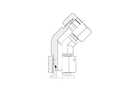 Snijringverbinding 24° - DIN 2353 - 45° instelbare knie-reduceerkoppeling - serie Zwaar product photo