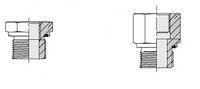 Hydrauliek adapter - Adapter recht male BSP/female BSP met elastomeer afdichting product photo