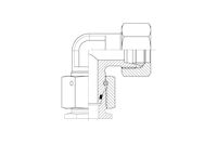 Snijringverbinding 24° - DIN 2353 - instelbare kniekoppeling - serie Zwaar product photo