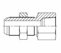 Hydrauliek adapter - Adapter recht male JIC/female NPTF product photo