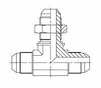 Hydrauliek adapter - T-stuk male JIC male JIC male JIC product photo