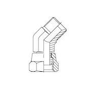 Hydrauliek adapter - 45° kniekoppeling male BSP/female BSP product photo